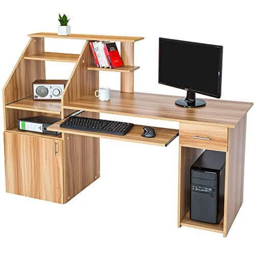 Escritorio tectake encuentra el mejor escritorios gaming for Escritorios para oficina dimensiones