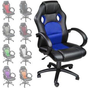 Tectake-silla-escritorio-colores, Tectake silla de escritorio racing